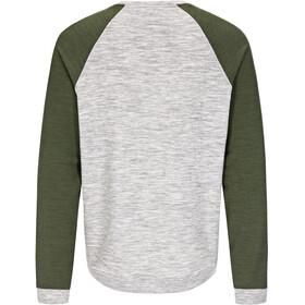 super.natural M's Essential Raglan Crew Sweater Ash Melange/Duffel Bag 3D
